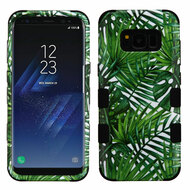 Military Grade Certified TUFF Image Hybrid Armor Case for Samsung Galaxy S8 Plus - Tropical Palms