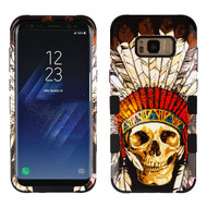 Military Grade Certified TUFF Image Hybrid Armor Case for Samsung Galaxy S8 Plus - Dead Chief Skull