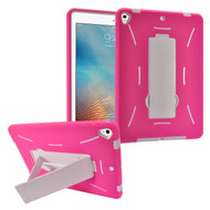 *Sale* Dual Layer Hybrid Armor Case with Stand for iPad (2018/2017) - Hot Pink White
