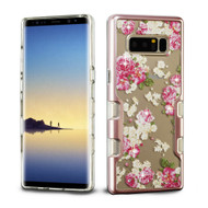 TUFF Panoview Transparent Hybrid Diamond Case for Samsung Galaxy Note 8 - European Rose