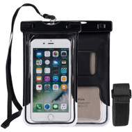 Stay Dry Waterproof Case with Armband and Lanyard - Black