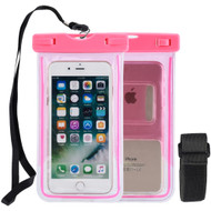 Stay Dry Waterproof Case with Armband and Lanyard - Hot Pink