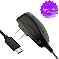 Premium AC Travel Wall Charger with Type-C USB Connector - Black