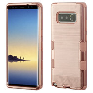 Military Grade Certified Brushed TUFF Hybrid Armor Case for Samsung Galaxy Note 8 - Rose Gold