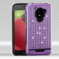 Luxury Bling Diamond Hybrid Case for Motorola Moto E4 - Purple