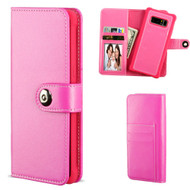*SALE* 2-IN-1 Premium Leather Wallet with Removable Magnetic Case for Samsung Galaxy Note 8 - Hot Pink