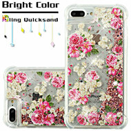 Confetti Quicksand Glitter Transparent Case for iPhone 8 Plus / 7 Plus / 6S Plus / 6 Plus - European Rose