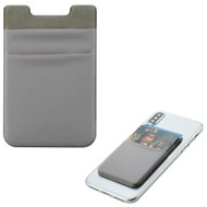 Micro-Fiber Adhesive Dual Slot Card Pocket Pouch - Grey