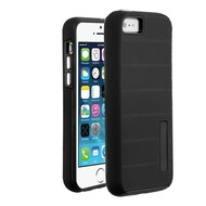Haptic Dots Texture Anti-Slip Hybrid Armor Case for iPhone SE / 5S / 5 - Black
