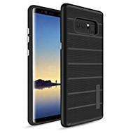 Haptic Dots Texture Anti-Slip Hybrid Armor Case for Samsung Galaxy Note 8 - Black