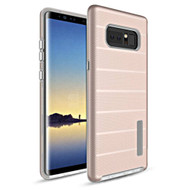 Haptic Dots Texture Anti-Slip Hybrid Armor Case for Samsung Galaxy Note 8 - Rose Gold