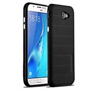 Haptic Dots Texture Anti-Slip Hybrid Armor Case for Samsung Galaxy J7 (2017) / J7 V / J7 Perx - Black