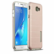 Haptic Dots Texture Anti-Slip Hybrid Armor Case for Samsung Galaxy J7 (2017) / J7 V / J7 Perx - Rose Gold