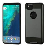 Brushed Hybrid Armor Case for Google Pixel 2 - Black