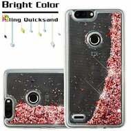 Quicksand Glitter Transparent Case for ZTE Blade Z Max - Rose Gold