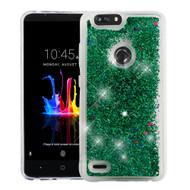 Quicksand Glitter Transparent Case for ZTE Blade Z Max - Green