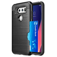 ID Card Slot Hybrid Case for LG V30 / V30+ - Black