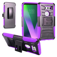*SALE* Advanced Armor Hybrid Kickstand Case with Holster for LG V30 / V30+ - Purple