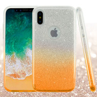 Full Glitter Hybrid Protective Case for iPhone XS / X - Gradient Gold