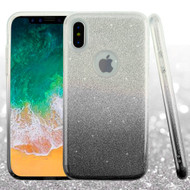 Full Glitter Hybrid Protective Case for iPhone XS / X - Gradient Black