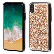 Desire Bling Bling Crystal Cover for iPhone XS / X - Rhinestones Gold