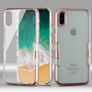 TUFF Panoview Transparent Hybrid Case for iPhone XS / X - Rose Gold