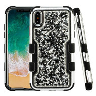 TUFF Vivid Mini Crystals Hybrid Armor Case for iPhone XS / X - Black