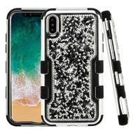 TUFF Vivid Mini Crystals Hybrid Armor Case for iPhone XS / X - Black