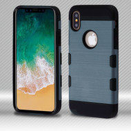 Military Grade Certified TUFF Trooper Dual Layer Hybrid Armor Case for iPhone XS / X - Slate Blue