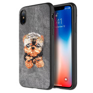 *Sale* Adorable Puppy Embroidery Case for iPhone XS / X - Yorkshire