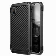 *SALE* Tough Anti-Shock Hybrid Case for iPhone XS / X - Carbon Fiber
