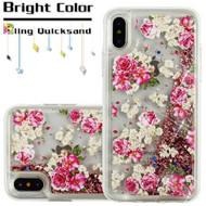 *Sale* Quicksand Glitter Transparent Case for iPhone XS / X - European Rose