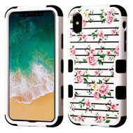 Military Grade Certified TUFF Image Hybrid Armor Case for iPhone XS / X - Pink Fresh Roses