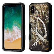 Military Grade Certified TUFF Image Hybrid Armor Case for iPhone XS / X - Tree Camouflage