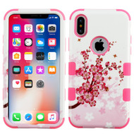 *Sale* Military Grade Certified TUFF Image Hybrid Armor Case for iPhone XS / X - Spring Flowers