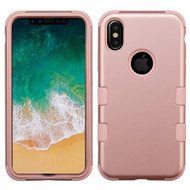 Military Grade Certified TUFF Hybrid Armor Case for iPhone XS / X - Rose Gold