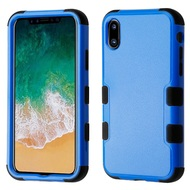 Military Grade Certified TUFF Hybrid Armor Case for iPhone XS / X - Blue