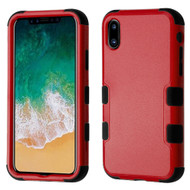 Military Grade Certified TUFF Hybrid Armor Case for iPhone XS / X - Red