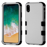 Military Grade Certified TUFF Hybrid Armor Case for iPhone XS / X - Grey