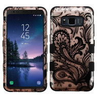 Military Grade Certified TUFF Image Hybrid Armor Case for Samsung Galaxy S8 Active - Phoenix Flower Rose Gold