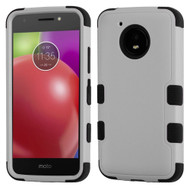 Military Grade Certified TUFF Hybrid Armor Case for Motorola Moto E4 - Grey
