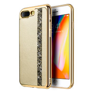 Diamond Belt Collection Electroplated TPU Case for iPhone 8 Plus / 7 Plus - Gold