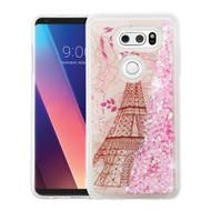 Quicksand Glitter Transparent Case for LG V30 / V30+ - Eiffel Tower