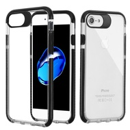 Crystal Clear Transparent TPU Case with Bumper Reinforcement for iPhone 8 / 7 - Black