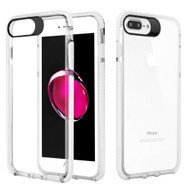 Crystal Clear Transparent TPU Case with Bumper Reinforcement for iPhone 8 / 7 - White