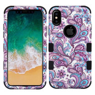 Military Grade Certified TUFF Image Hybrid Armor Case for iPhone XS / X - Persian Paisley 194