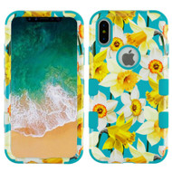 Military Grade Certified TUFF Image Hybrid Armor Case for iPhone X - Spring Daffodils