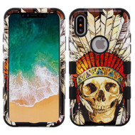 Military Grade Certified TUFF Image Hybrid Armor Case for iPhone XS / X - Dead Chief Skull