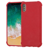 Klarity Premium Anti-Shock TPU Case for iPhone XS / X - Frosted Red