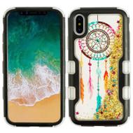 TUFF Quicksand Glitter Hybrid Armor Case for iPhone XS / X - Dreamcatcher